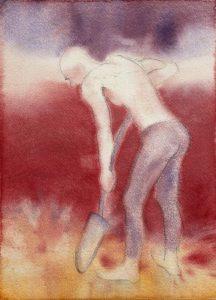 Tuuli Autio: Sinä III, 2019, akvarelli, 37 x 27 cm