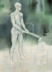 Tuuli Autio: Sinä II, 2019, akvarelli, 37 x 27 cm