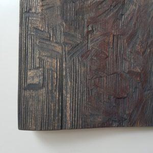 Eilinen, 2021, kuusi, tempera, 50 x 24 x 3 cm
