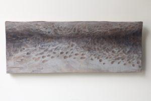 Marraskuu, 2021, kuusi, tempera, 22 x 56 x 3 cm
