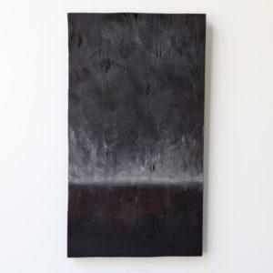 Hyväksyminen, 2021, kuusi, tempera, 48 x 27 x 3 cm